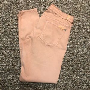 7FAM the cropped skinny (peach) 29